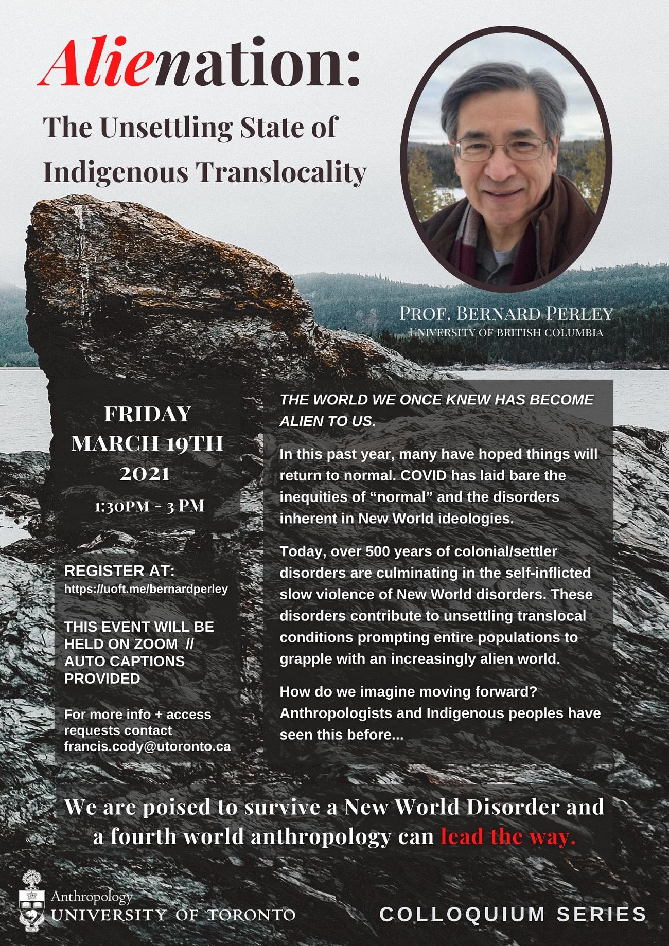 Poster Featuring Professor Bernard Perley