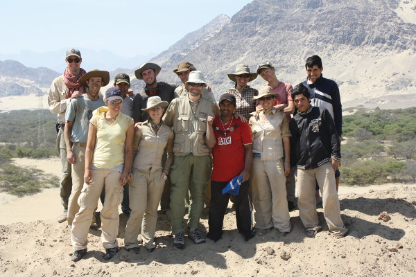 ANT 399Y students doing field work in Peru, 2011