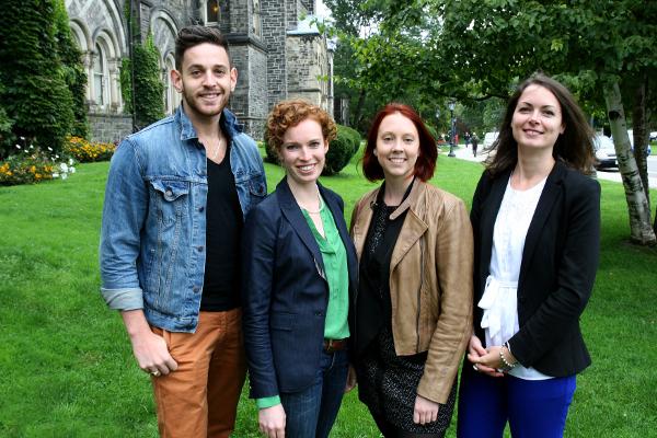 Four graduate students