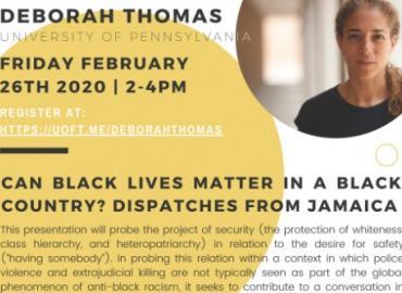 Photo featuring Professor Deborah Thomas